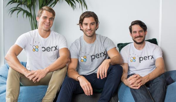 Perx team: Scott Taylor, Hugo Rourke and Matt Laird