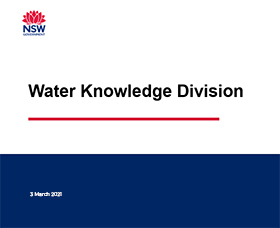 Water's Knowledge Division presentation