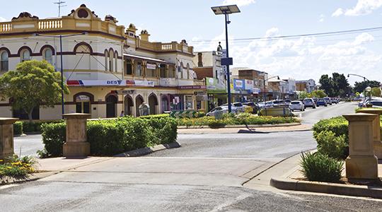 Main street of Narrabri, New South Wales.