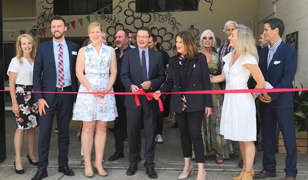 Parliamentary Secretary Scot MacDonald opening the facility with co-founders  Danielle Minnebo and Natashja Jirwander