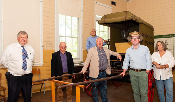 Northern Tablelands MP Adam Marshall (wearing hat) with friends of the Armidale Museum of Education