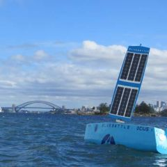 OCIUS Technology's Bluebottle on Sydney Harbour