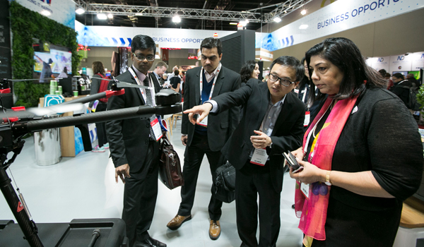 Visitor at the NSW Stand, CeBIT 2017